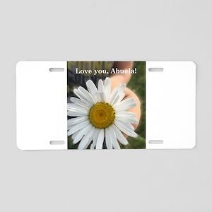 Loveyouabuela Aluminum License Plate