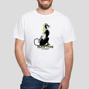 Support Greyhound Adoption White T-Shirt