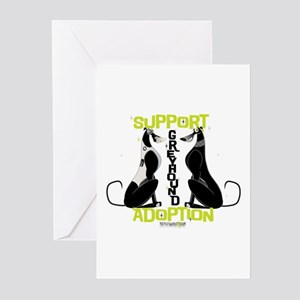 Support Greyhound Adoption Greeting Cards (Pk of 2