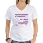 Man Doing My Laundry Women's V-Neck T-Shirt