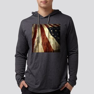 grunge USA flag Long Sleeve T-Shirt