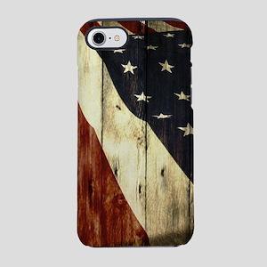 grunge USA American flag iPhone 8/7 Tough Case
