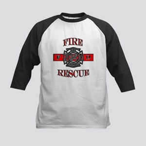 Fire Rescue Kids Baseball Jersey