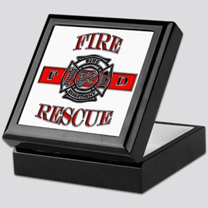 Fire Rescue Keepsake Box