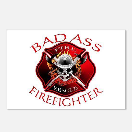 Bad Ass Firefighter Postcards (Package of 8)