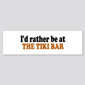 Tiki Bar Bumper Sticker