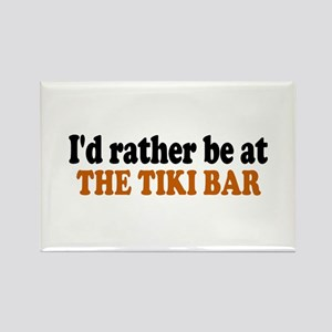 Tiki Bar Rectangle Magnet