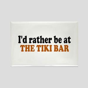 Tiki Bar Rectangle Magnet