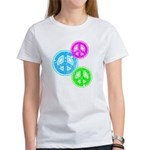 Glowing colorful Peace Signs Women's T-Shirt