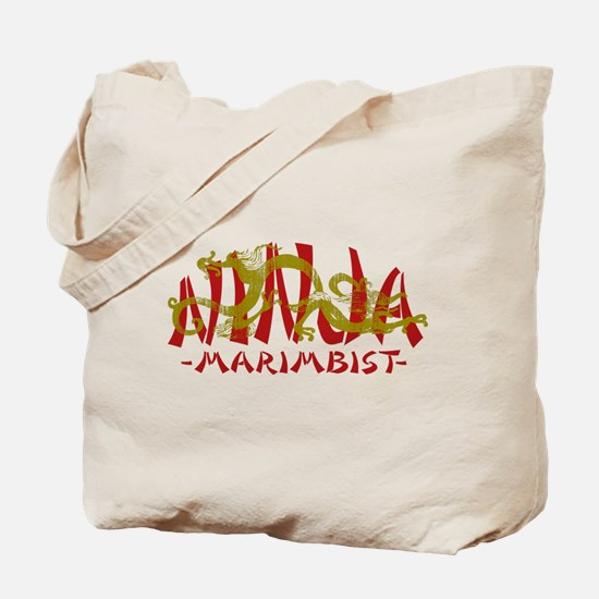 Dragon Ninja Marimbist Tote Bag