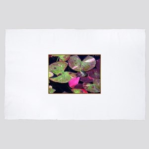 Lily pads, purple water lilies photo 4' x 6' Rug
