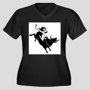 Black Bull Rider Plus Size T-Shirt