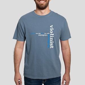 Black Violinist T-shirt (blue) T-Shirt