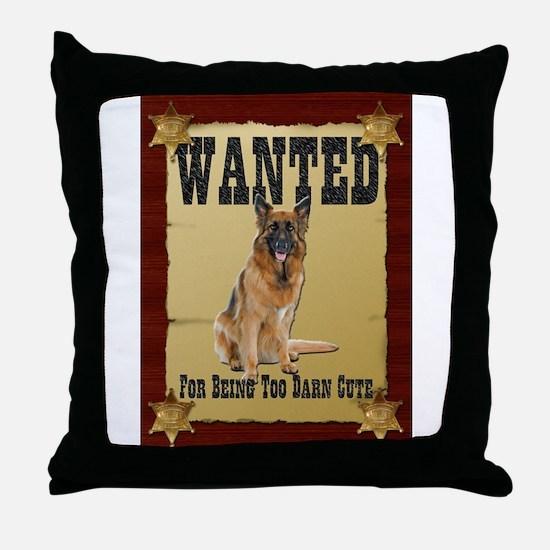Wanted Poster Belgian Tervuren Throw Pillow