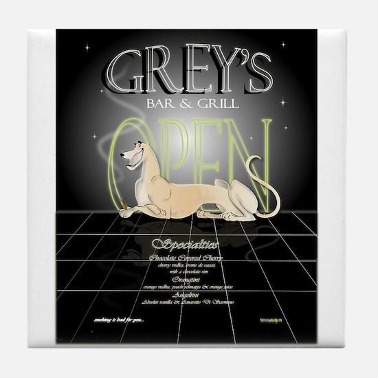 """""""Grey's Bar"""" Tile Coaster"""
