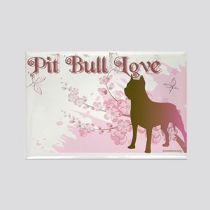 Pit Bull Love Rectangle Magnet