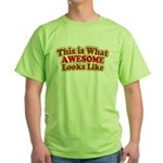 awesome 7 Green T-Shirt