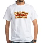 awesome 7 White T-Shirt