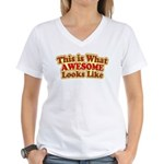 awesome 7 Women's V-Neck T-Shirt
