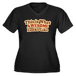 awesome 7 Women's Plus Size V-Neck Dark T-Shirt