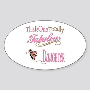 Fabulous Daughter Oval Sticker