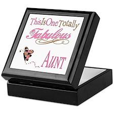 Fabulous Aunt Keepsake Box