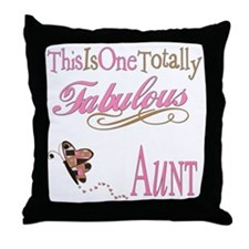 Fabulous Aunt Throw Pillow