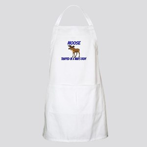 Moose Trapped In A Man's Body BBQ Apron
