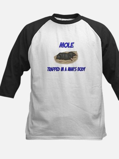 Mole Trapped In A Man's Body Kids Baseball Jersey
