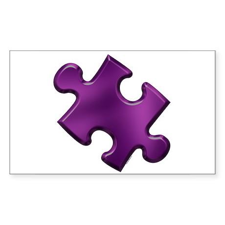 Puzzle Piece Ala Carte 1.6 (Purple) Sticker (Recta