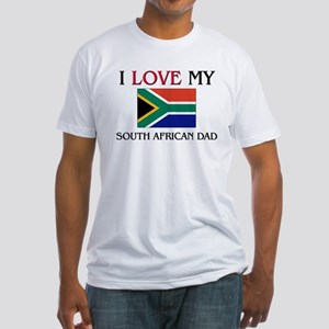 I Love My South African Dad Fitted T-Shirt