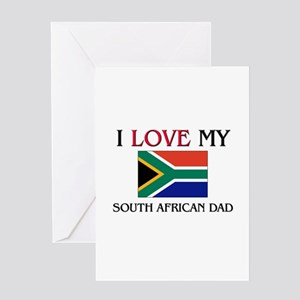South african greeting cards cafepress i love my south african dad greeting card m4hsunfo