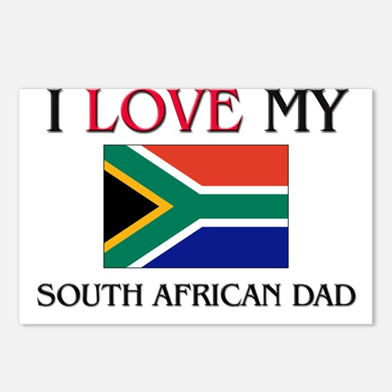I Love My South African Dad Postcards (Package of