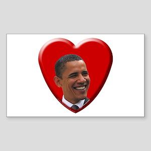 Love Barack Obama Rectangle Sticker