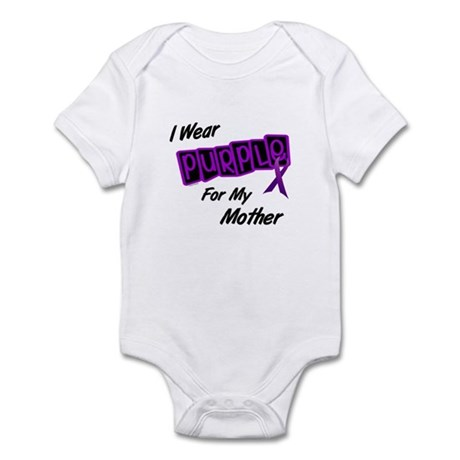 I Wear Purple 8 (Mother) Infant Bodysuit