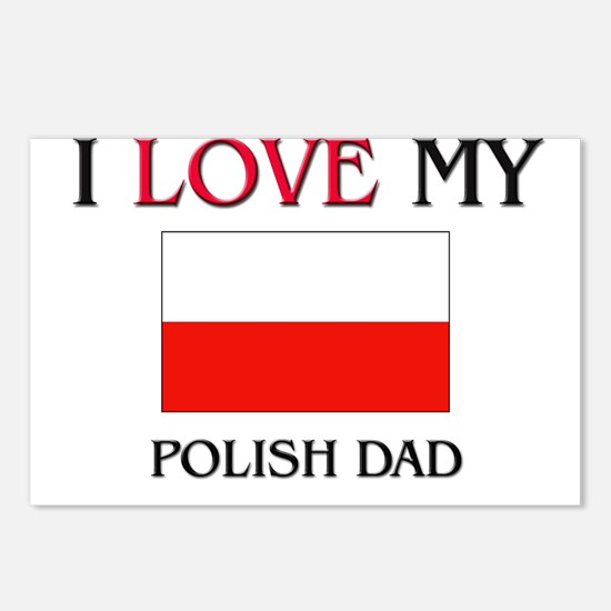 I Love My Polish Dad Postcards (Package of 8)