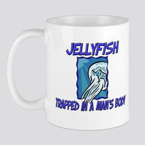Jellyfish Trapped In A Man's Body Mug