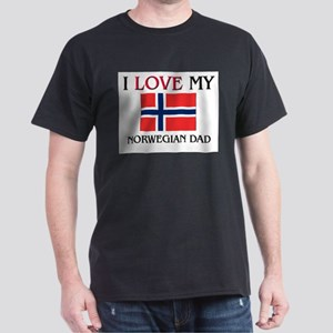 I Love My Norwegian Dad Dark T-Shirt