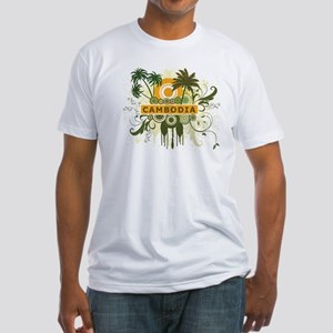 Palm Tree Cambodia Fitted T-Shirt