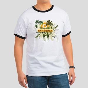 Palm Tree Cambodia Ringer T