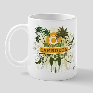Palm Tree Cambodia Mug