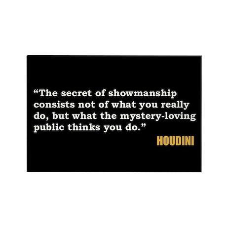 Houdini Showmanship Quote Magnet