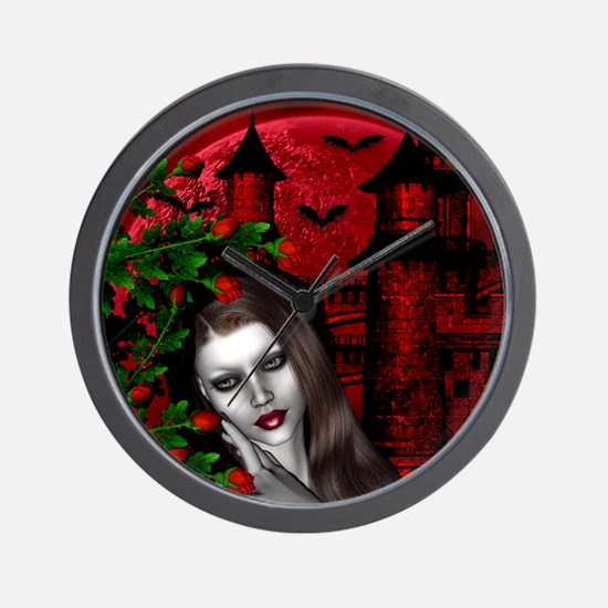 GOTHIC ROSE Wall Clock