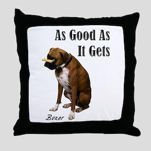 Good Boxer Throw Pillow