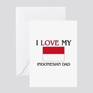 Indonesian language greeting cards cafepress i love my indonesian dad greeting card m4hsunfo