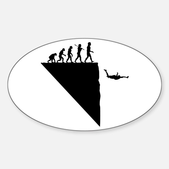 Base Jumper Oval Decal