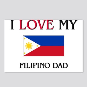 I Love My Filipino Dad Postcards (Package of 8)