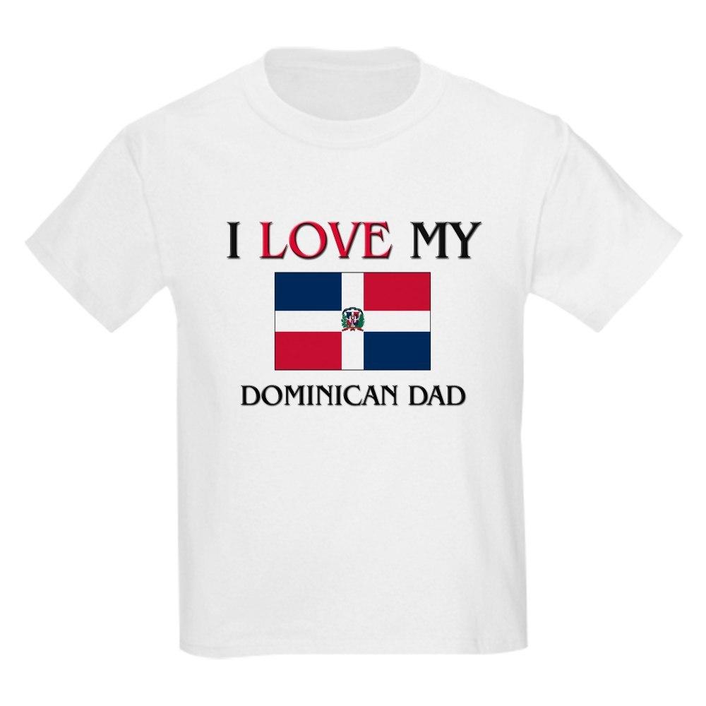 fc64caca CafePress I Love My Dominican Dad Kids Light T Shirt Kids T-Shirt ...