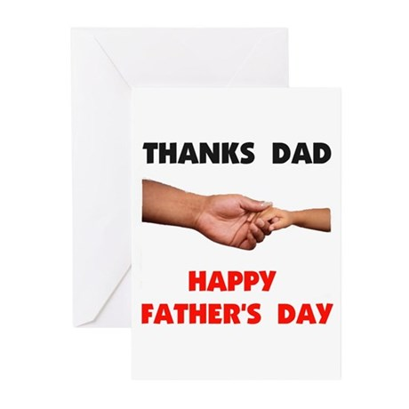 THANKS DAD Greeting Cards (Pk of 10)