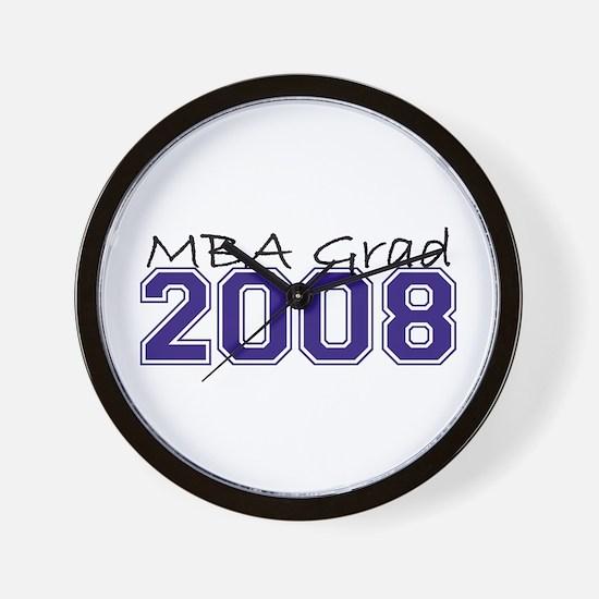 MBA Grad 2008 (Blue) Wall Clock